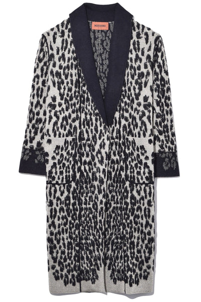 Leopard Coat in Black/White