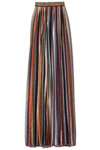 Long Skirt in Gold Multi Stripe