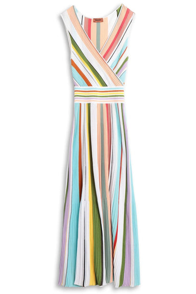 Sleeveless Dress in Multi Stripe