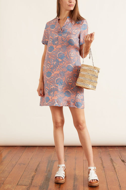 Alberobello Dress in Pink/Blue
