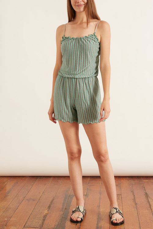 Orciano Jumpsuit in Military/Aquamarine