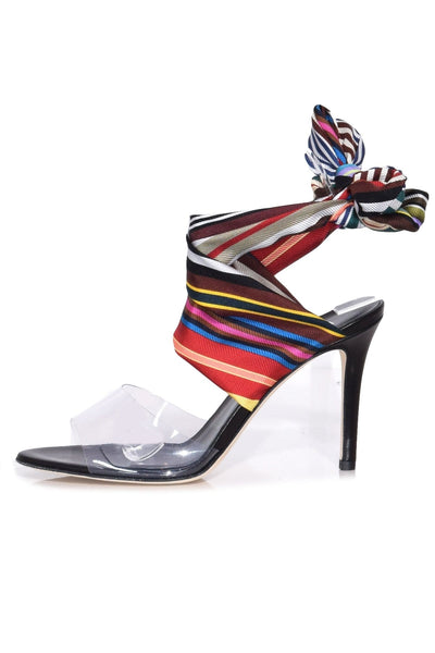 Rainbow Ankle Wrap Shoes in Multi