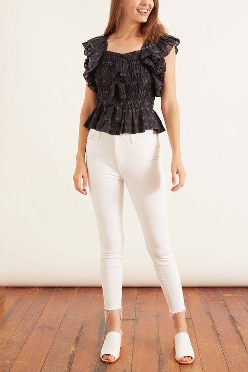 High Waisted Looker Ankle Fray Jean in Fairest of them All