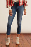 Mid Rise Dazzler Crop Fray Jean in We're All In This Together