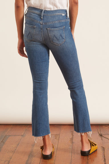 The Insider Crop Step Fray Jean in Wild Game