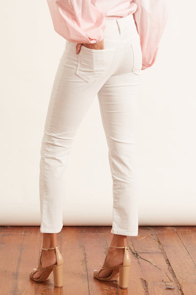 The Mid Rise Dazzler Ankle Jean in Chalk