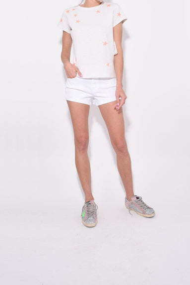 The Boxy Goodie Goodie Tee in Dirty White