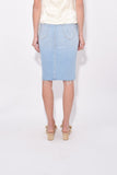 The Peg Step Fray Skirt in Fresh Catch