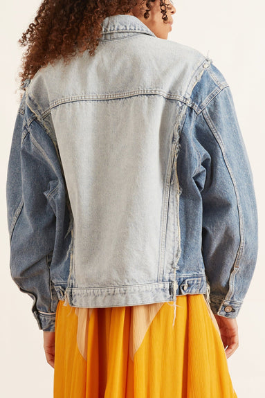 Remake Trucker Denim Jacket in Blue