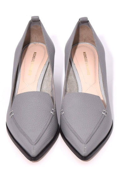 Beya Block Heel Pump in Grey