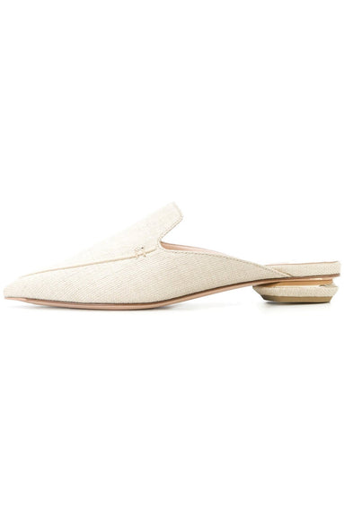 Beya Flat Mule in Natural