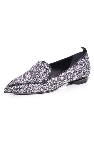 Beya Loafer in Gunmetal/Fuschia