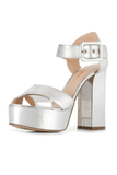 Elements Platform Sandal in Silver
