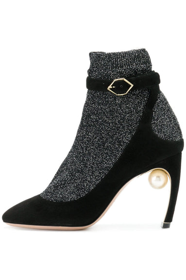 Lola Pearl Sock Pump in Black
