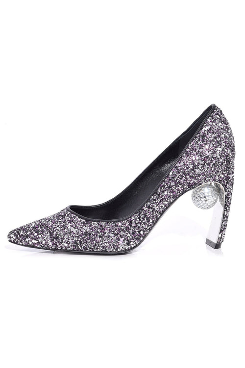 Maeva Pump in Gunmetal/Fuschia