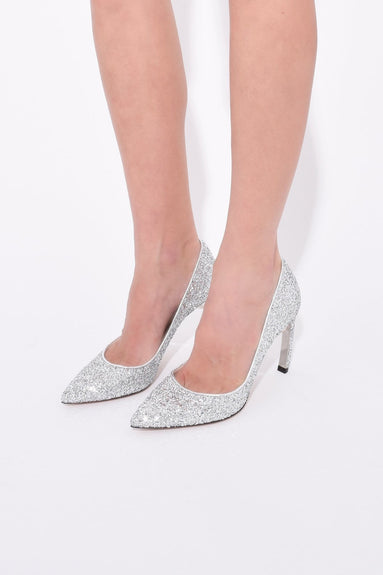 Mira Pearl Pump in Silver