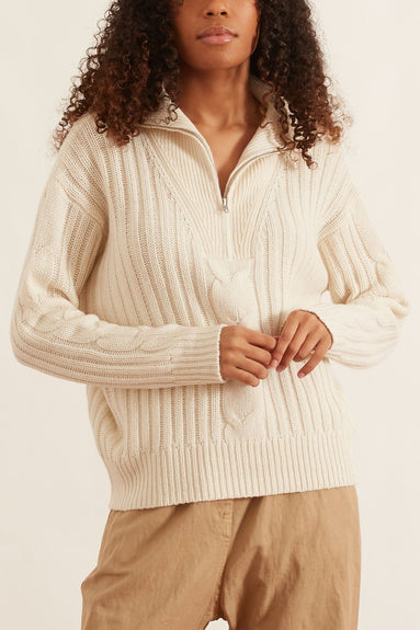 Angela Sweater in Ivory