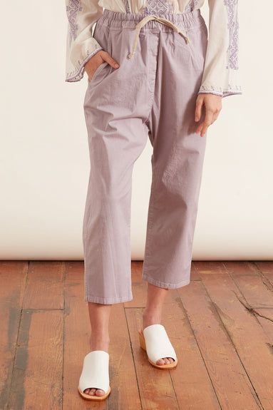 Casablanca Pant with Drawstring in Lilac