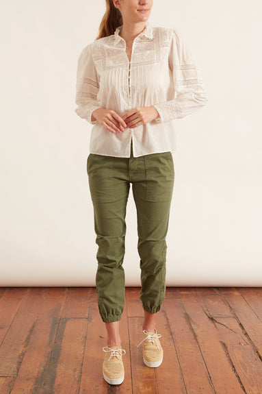 Cropped Military Pant in Camo