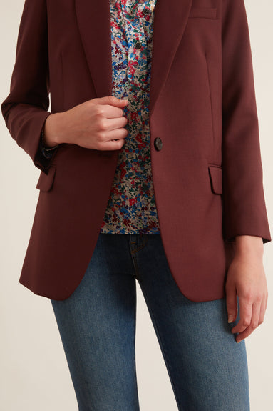 Diane Blazer in Burgundy