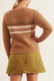 Kayle Sweater in Camel Fair Isle
