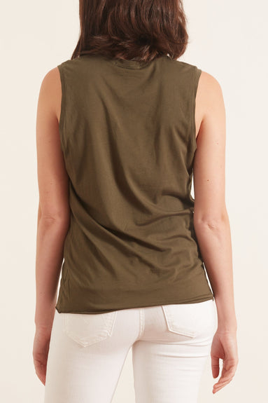 Muscle Tee in Army Green