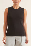 Muscle Tee in Washed Black