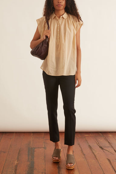 Normandy Blouse in Khaki