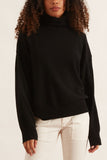 Turtleneck Boyfriend Sweater in Black