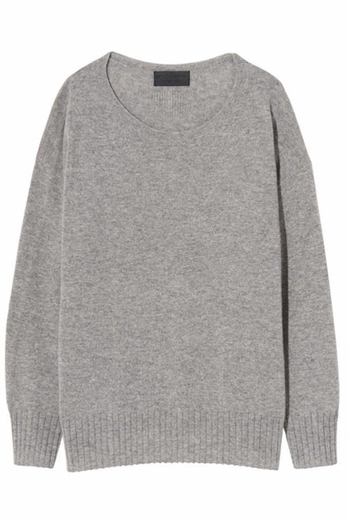Boyfriend Sweater in Heather Grey
