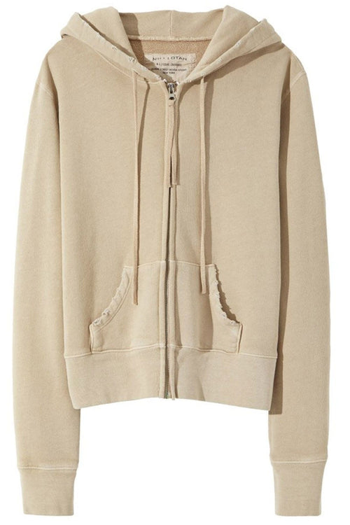Callie Zip Up Hoodie in Khaki