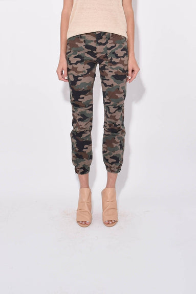 Cropped French Military Pant in Coyote Brown Camo