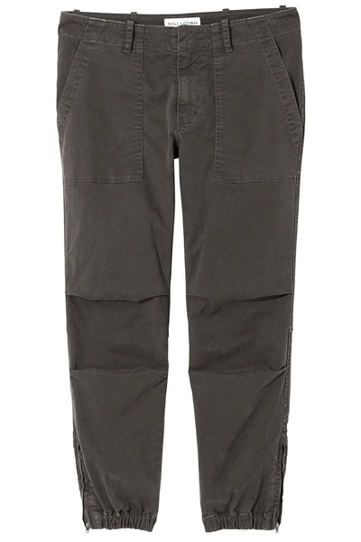 Cropped Military Pant in Charcoal