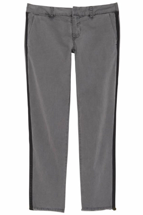 East Hampton Pant with Tape in Charcoal with Black Tape