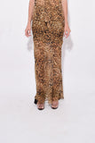 Ella Skirt in Ginger Leopard Print