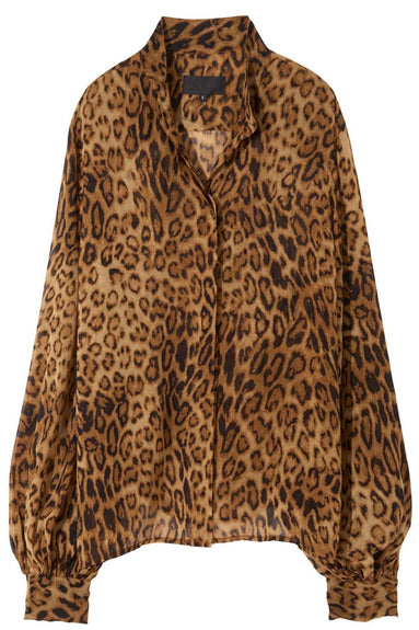 Evelyn Blouse in Ginger Leopard Print