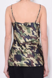Isabella Cami Top in Light Green Camouflage