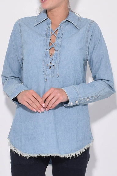 Mallory Shirt in Sky Blue