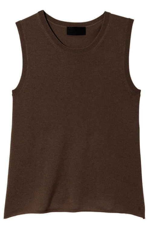 Muscle Tee Sweater in Chocolate