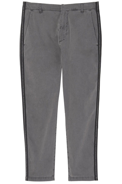 Paris Pant with Double Tape in Charcoal/Black