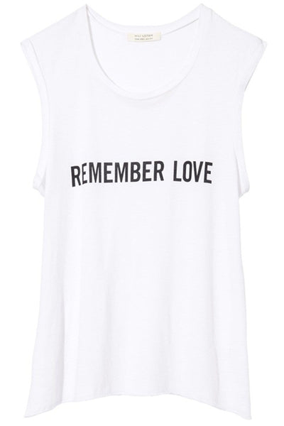 Remember Love Muscle Tee in White
