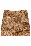 Rivoli Skirt in Golden Baby Leopard Print