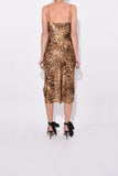 Short Cami Dress in Ginger Leopard Print