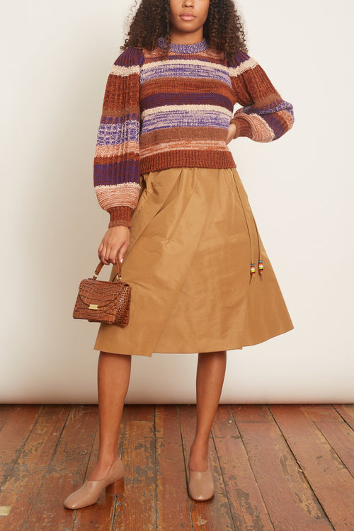 A-Line Skirt in Camel