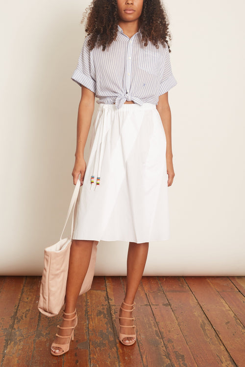 A-Line Skirt in White