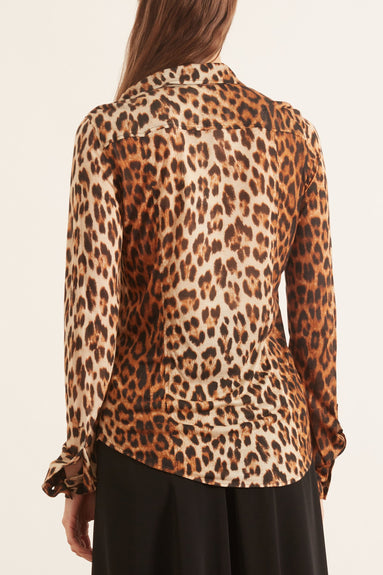 Button Down Shirt in Leopard