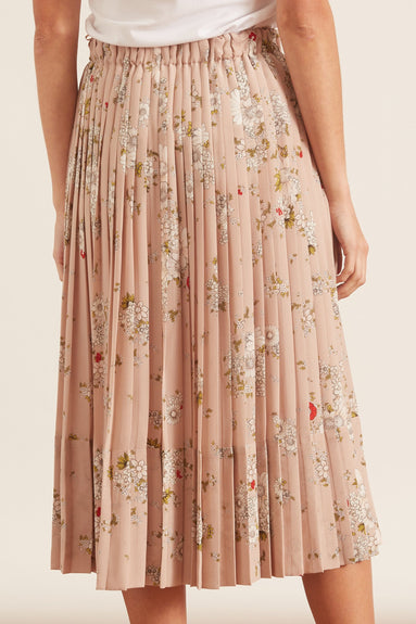 Floral Printed Skirt in Rosa