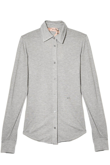Button Down Logo Shirt in Ferro