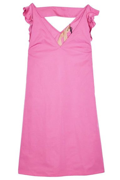Double V Dress in Fuchsia