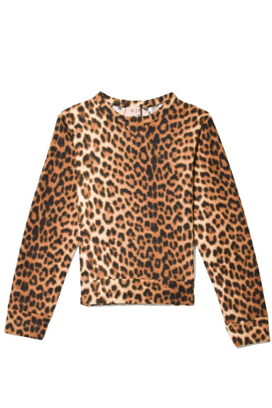 Leopard Sweatshirt in Marrone